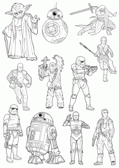 Star Wars Free CDR Vectors Art