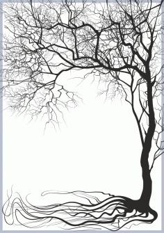 Tree Decoration Art Free CDR Vectors Art