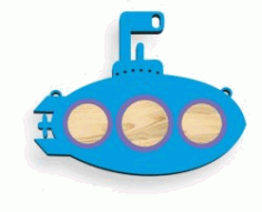 Cnc Laser Cut Submarine Toy Children Free CDR Vectors Art