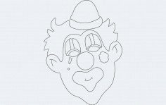 Clown Face Free DXF File