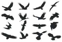 Birds Silhouette Clip Art Free CDR Vectors Art