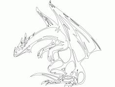 Dragon 021bw Drawing Free DXF File