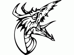 Dragon Head Silhouette Free DXF File