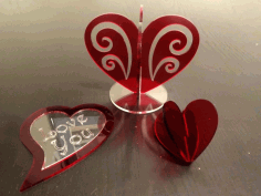 Heart Decoration Stand Free DXF File