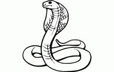 Laser Cut Cobra Template Free DXF File