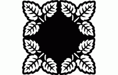 Laser Cut Decorative Grille Pattern Tree Leaf Pattern Free DXF File