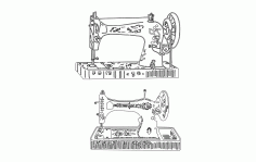 Sewing Machine 3d Sketch Free DXF File