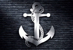 Ship Anchor Design Free DXF File