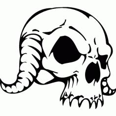 Free Horror Skull Free DXF File