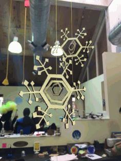 Kinetic Snowflakes Free DXF File