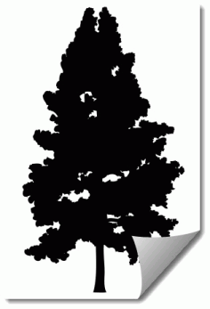 Tree 5 Silhouette Free DXF File
