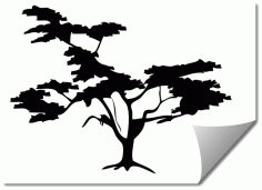 Tree 7 Silhouette Free DXF File