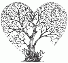 Tree Decorative Sketch Format Free DXF File