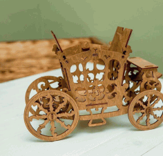 Carriage Candy Cart Sweet Display Stand 3mm Free CDR Vectors Art