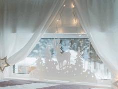 Laser Cut Christmas Window Decor Deer Window Stand Free CDR Vectors Art