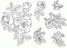 Hand Draw Flowers Sketch Free CDR Vectors Art