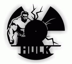 Hulk Wall Clock Cnc Laser Cutting Free CDR Vectors Art