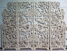 Laser Cut Screen With Dragon Free DXF File