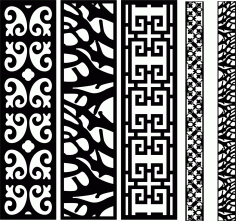 Decorative Screen Patterns For Laser Cutting 3 Free DXF File