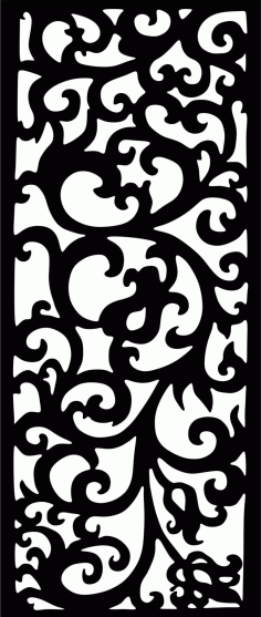 Decorative Screen Patterns For Laser Cutting 4 Free DXF File