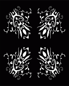 Decorative Screen Patterns For Laser Cutting 11 Free DXF File