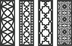 Decorative Screen Patterns For Laser Cutting 61 Free DXF File
