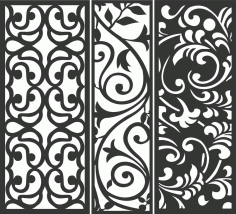 Decorative Screen Patterns For Laser Cutting 64 Free DXF File