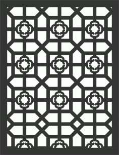 Decorative Screen Patterns For Laser Cutting 78 Free DXF File