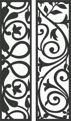 Decorative Screen Patterns For Laser Cutting 88 Free DXF File