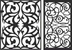Decorative Screen Patterns For Laser Cutting 101 Free DXF File