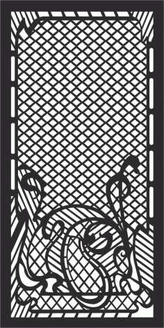 Decorative Screen Patterns For Laser Cutting 105 Free DXF File