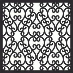 Decorative Screen Patterns For Laser Cutting 118 Free DXF File