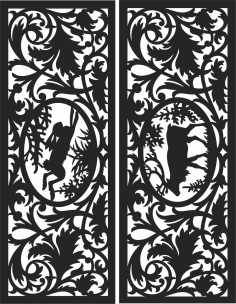 Decorative Screen Patterns For Laser Cutting 119 Free DXF File