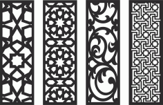 Decorative Screen Patterns For Laser Cutting 129 Free DXF File