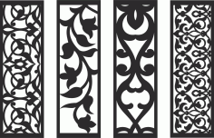 Decorative Screen Patterns For Laser Cutting 132 Free DXF File