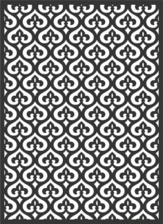 Decorative Screen Patterns For Laser Cutting 163 Free DXF File