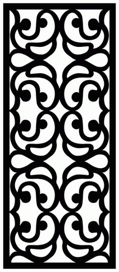 Decorative Screen Patterns For Laser Cutting 1898 Free DXF File