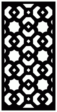 Decorative Screen Patterns For Laser Cutting 1912 Free DXF File