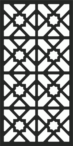Floral Screen Patterns Design 3 Free DXF File