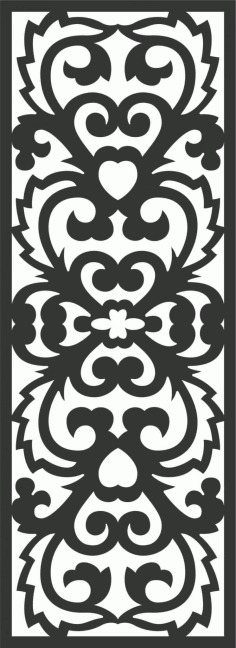 Floral Screen Patterns Design 29 Free DXF File