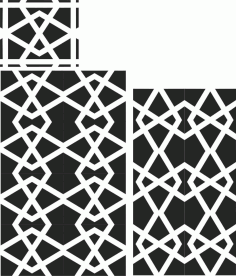 Floral Screen Patterns Design 35 Free DXF File