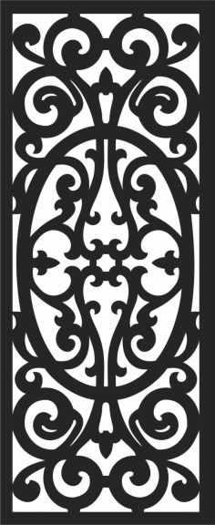 Floral Screen Patterns Design 42 Free DXF File
