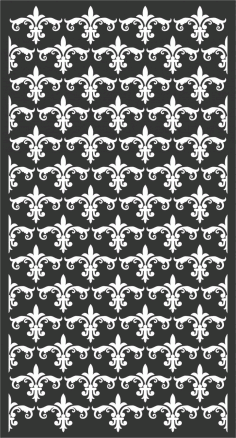 Floral Screen Patterns Design 61 Free DXF File