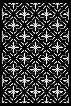 Floral Screen Patterns Design 65 Free DXF File