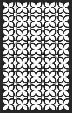 Floral Screen Patterns Design 67 Free DXF File