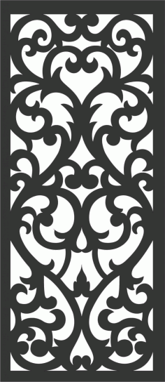 Floral Screen Patterns Design 72 Free DXF File
