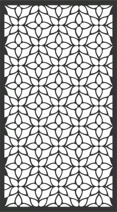 Floral Screen Patterns Design 73 Free DXF File