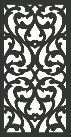 Floral Screen Patterns Design 76 Free DXF File