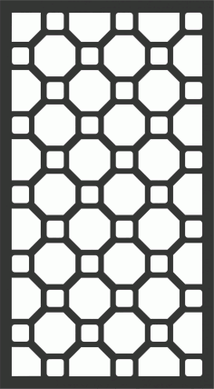Floral Screen Patterns Design 80 Free DXF File