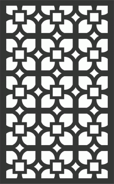 Floral Screen Patterns Design 83 Free DXF File